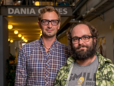 Mikkel Lodahl (tv) og Jonathan Yde, Erhvervsakademi Grenaa, fortæller om en række tiltag, der har reduceret frafaldet på datamatikeruddannelsen fra mere end 40 procent til under otte procent.