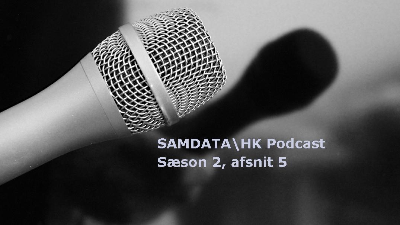 Samdata Podcast. Mikrofon. Foto: Ernst Poulsen