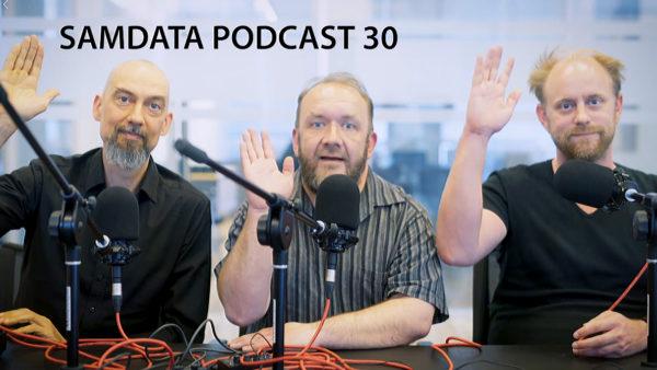 Anders Høgh Nissen, Adam Bindslev, Jeppe Engell - værter på SAMDATA Podcasten